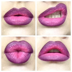 Ombré lips! I love trying out new color combinations.