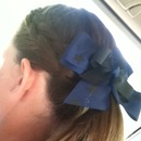 French Braid With Bow