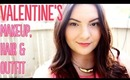 Soft & Pretty Valentine's Day Makeup, Hair, & Outfit | OliviaMakeupChannel