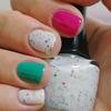 Pink Mint White Glitters