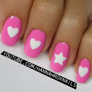 Learn how to make easy nail decals from my tutorial at http://youtube.com/hannahroxnails :)