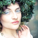 Snow white christmas makeup