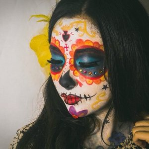 Sugarskull inspired by the movie The Book of Life. Face painted by Dalia Luna