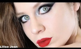 Colourpop Smoke Show Gunmetal Smokey Eye Red Lips Makeup Tutorial | Lillee Jean
