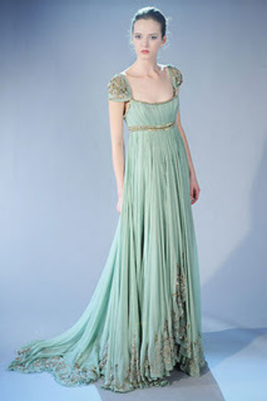 """I am an openly-admitted Jane Austen ADDICT. I Googled """"Jane Austen Dresses"""" and found too many gorgeous pictures! This is just one of many. I mainly picked it because it was one of the few blue dresses they showed. ;-)"""
