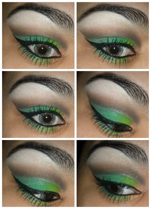 This is my saint pattys day look, using bhcosmetics and physicians formula 2-in-1 booster eyeliner :)