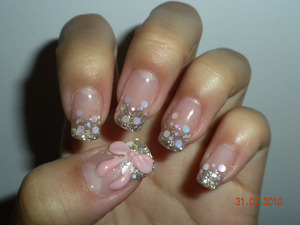 Japanese gel manicure with extensions