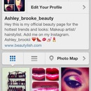 add my new beauty page on Instagram
