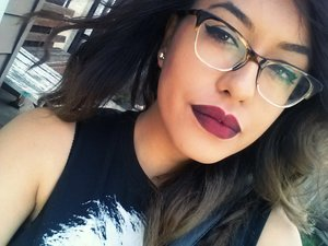 ombre red lip, nyx Transylvania in the coners and nyx copenhagen in the centre.