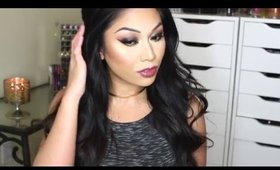 NEW YEARS GLAM! Black & Gold Makeup Tutorial