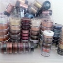 Organize your pigments by color or brand.