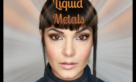 Liquid Metal Makeup Look