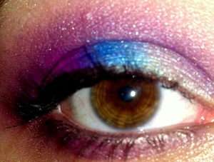 white,purple, pink and blue bright