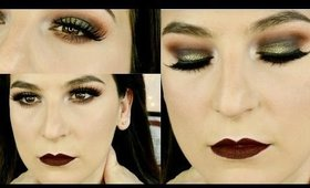 SMOKEY EYES AND MATTE BURGUNDY LIPS