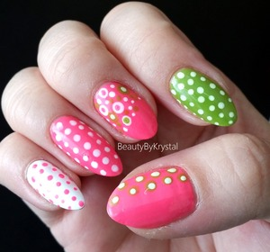 Spring Ready Nails with #fingrs Dots So Cool Nail Art Kit http://www.beautybykrystal.com/2014/02/fingrs-dots-so-cool-nail-art-kit.html