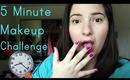 5 Minute Makeup Challenge | OliviaMakeupChannel