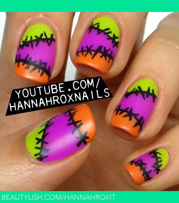 Halloween Stitch Nail Art Hannah Ls Hannahroxit Photo Beautylish