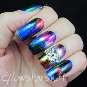 Read the blog post at http://glowstars.net/lacquer-obsession/2014/01/featuring-born-pretty-store-3d-rhinestoned-peacock/