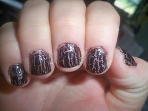 Finger Paints 'Hue Left a message?' Three Coats W/ China Glaze 'Black Mesh'