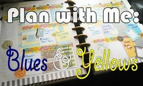 Plan With Me: Bright Blues and Yellows