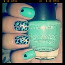 teal and leopard print!