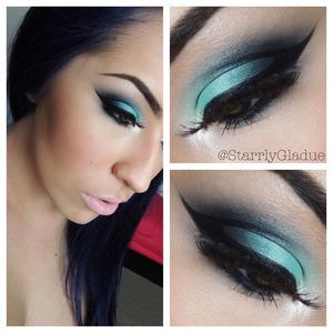 Products used: MAC aquadisiac, plumage, carbon & nylon shadows. Act5 Cosmetics black gel liner & black pencil liner. MAC 48 lashes.  Instagram & Twitter: @StarrlyGladue Facebook: Makeup by Starrly