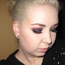 Black Glitter and Purple Smoky eyes