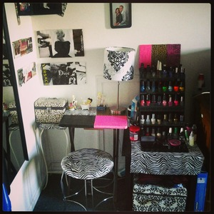 My lovely nail station :)