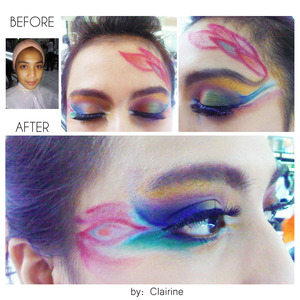 During my time waiting my fiancee to pick me up, I try to do some colors blending of eye shadow..  ♥ Follow INSTAGRAM: mclairbeautygalerie  ♥ Please kindly like my page on Facebook: http://www.facebook.com/pages/MClair-Beauty-Galerie/419178171439864