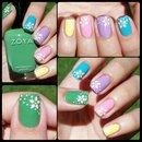 Pastel x Floral Nails