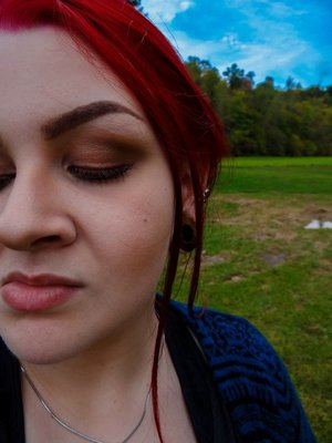 A natural summery look that I did, this past Fall.