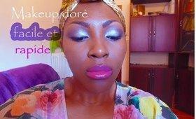 Makeup doré rapide et facile:)