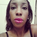 Pink Rhinestone Lips