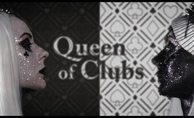 Queen of Clubs - double face make-up