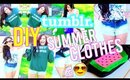 DIY Summer Clothes! ☼ Tumblr Inspired (Fanny Pack, Shorts, Sweatshirt+More!)