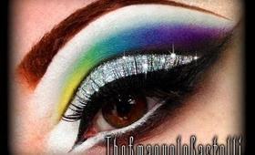 Rainbow Cut Crease with 3D Glitter - Make Up Tutorial