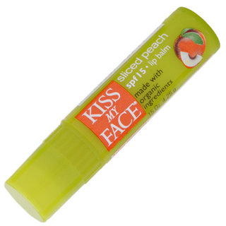 Kiss My Face Sliced Peach Lip Balm with Organic Ingredients - SPF 15