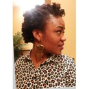 my first bantu knot twist out