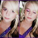pink and purple formal make up