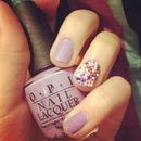 sprinkle nails.