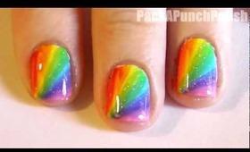 Rainbow Burst Nail Art Tutorial