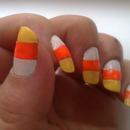Halloween-Candy Corn Nails.