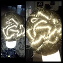 3 strand twist up bun