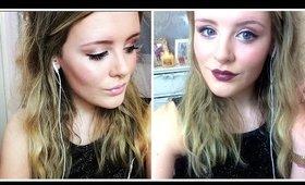 Dark and Nude Lips; NYE Makeup Look