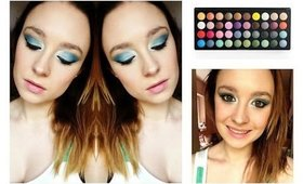 Bright Blue Eye Makeup | Tutorial