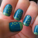 Green and Polka Dots