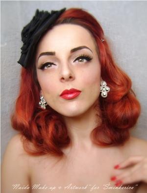 History of make up - 1950's // Tutorial: http://www.sminkerica.com/moda-stil/povijest-sminkanja-1950-e/