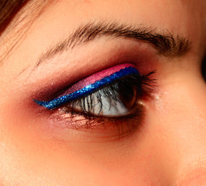 hot pink & blue