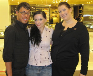 Jacob, myself and Alicha for Dior Beauty.