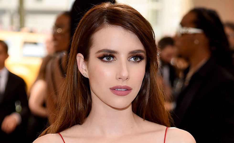 Emma Roberts at the Met Gala, makeup by Charlotte Tilbury